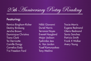 Furious Flower 25th Anniversary Poetry Readings